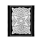 Celtic Knotwork Quasar Throw Blanket