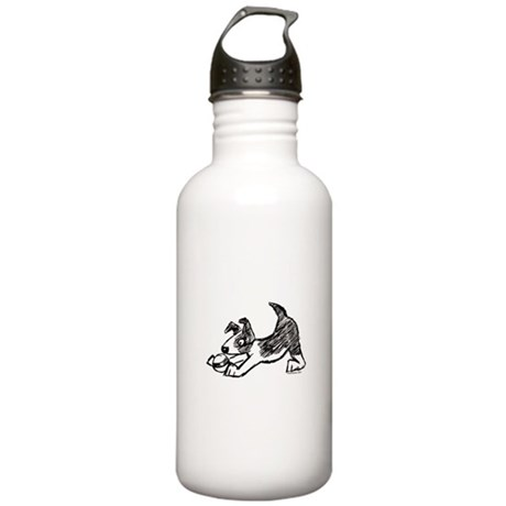 Dog Playing With Ball Stainless Water Bottle 1.0L