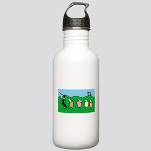Border Collie Pied Piper Stainless Water Bottle 1.