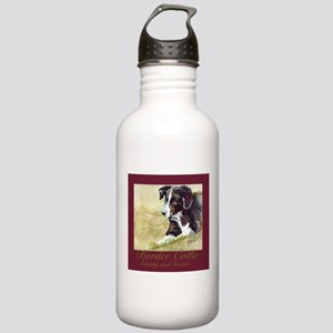 Border Collie Beauty & Brains Stainless Water