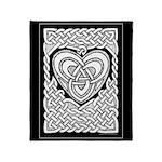 Celtic Knotwork Heart Throw Blanket