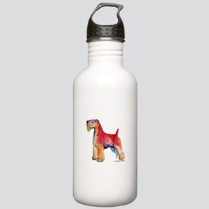 Soft Coated Wheaten Terrier w Stainless Water Bott