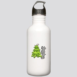 Schnauzer Christmas Stainless Water Bottle 1.0L
