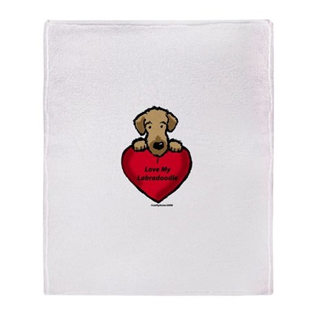Labradoodle Love!! Throw Blanket