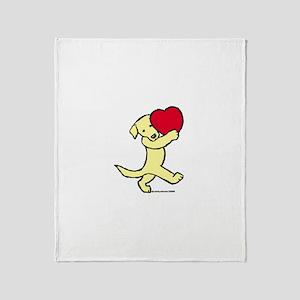 Yellow Lab Valentine Throw Blanket