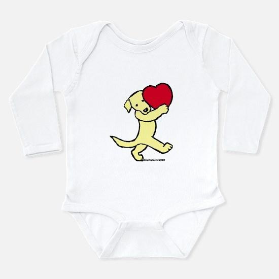 Yellow Lab Valentine Long Sleeve Infant Bodysuit