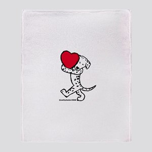 Dalmatian Valentine Throw Blanket