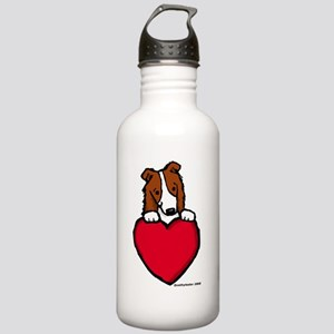 Red BC Valentine Stainless Water Bottle 1.0L
