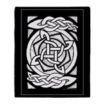 Celtic Knotwork Spin Throw Blanket