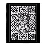 Celtic Knot Bare Branches Throw Blanket