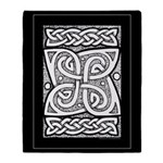 Celtic Knotwork Cloverleaf Throw Blanket