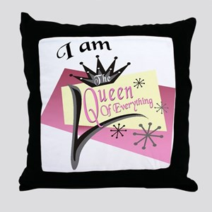 Custom I am The Queen Throw Pillow