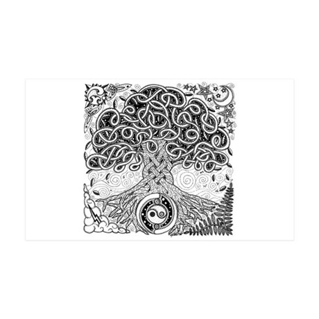 Celtic Tree of Life Ink 38.5 x 24.5 Wall Peel