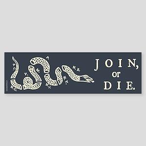 Join or Die Sticker (Bumper)