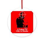 Castro - A Cuban I'd Like to Smoke Ornament (Round