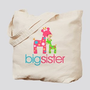 Funky Giraffe Big Sister Tote Bag