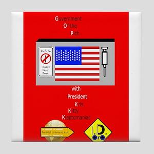 G. O. P. with President Kleptomaniac Tile Coaster