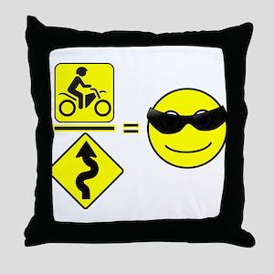 Riding Math Throw Pillow
