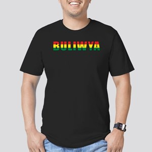 Bolivia (Quechua) Men's Fitted T-Shirt (dark)