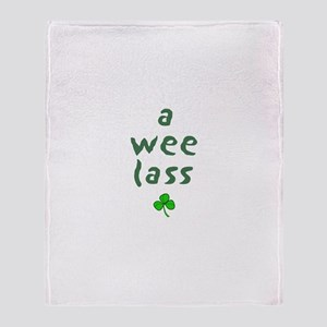 a wee lass Throw Blanket