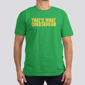 That's what cheesehead Men's Fitted T-Shirt (dark)