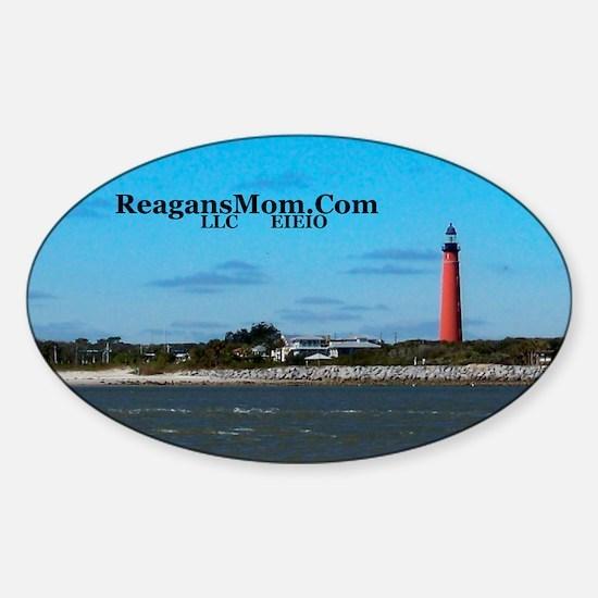 ReagansMom.Com LLC EIEIO Sticker (Oval)