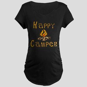 Happy Camper Maternity Dark T-Shirt
