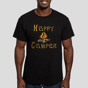 Happy Camper Men's Fitted T-Shirt (dark)