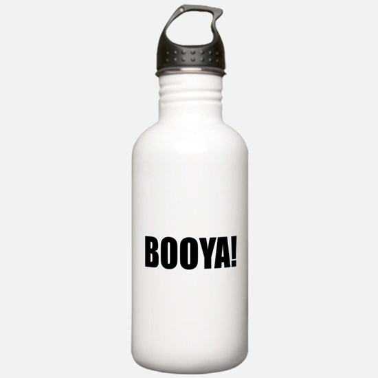 BOOYA! black text Water Bottle