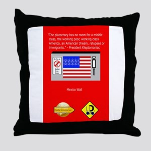The Plutocracy in America Throw Pillow