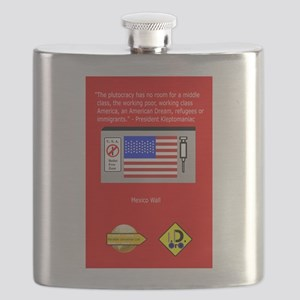 The Plutocracy in America Flask