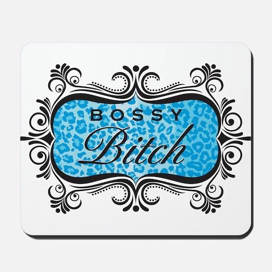 Blue Bossy Bitch Mousepad