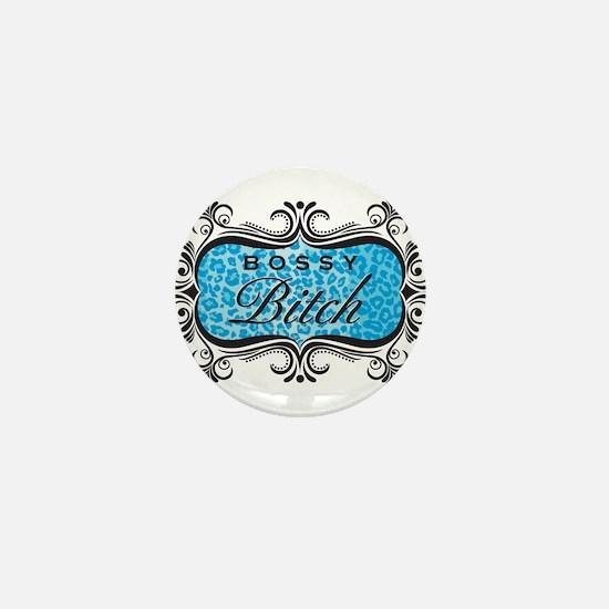 Blue Bossy Bitch Mini Button