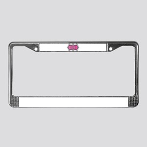 Pink Bossy Bitch License Plate Frame