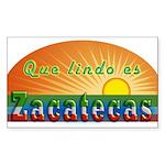 Lindo Zacatecas Sticker (Rectangle)