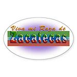 Mi Raza de Zacatecas Sticker (Oval 10 pk)
