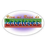 Mi Raza de Zacatecas Sticker (Oval 50 pk)