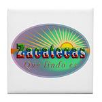 Zacatecas Que Lindo Tile Coaster
