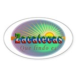 Zacatecas Que Lindo Sticker (Oval 50 pk)