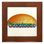Naci en Zacatecas Framed Tile