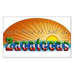 Naci en Zacatecas Sticker (Rectangle)
