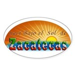 Naci en Zacatecas Sticker (Oval)