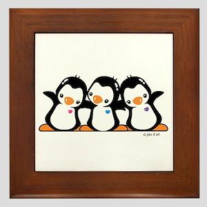 Penguins (together) Framed Tile