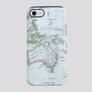 Vintage Map of Oceania (1862) iPhone 7 Tough Case