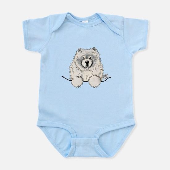 Cream Pocket Chow Chow Infant Bodysuit