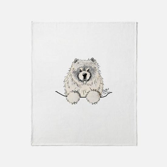 Cream Pocket Chow Chow Throw Blanket