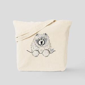 Cream Pocket Chow Chow Tote Bag