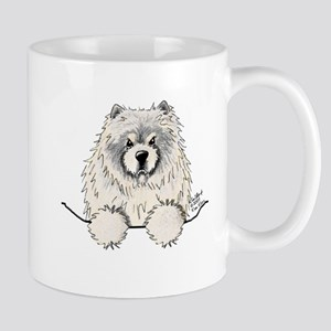 Cream Pocket Chow Chow Mug