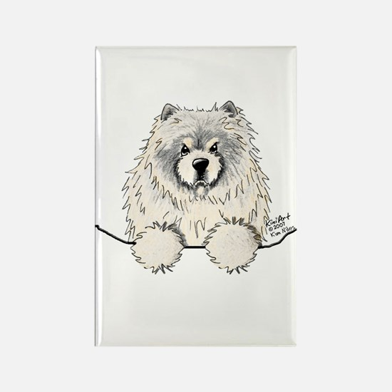 Cream Pocket Chow Chow Rectangle Magnet