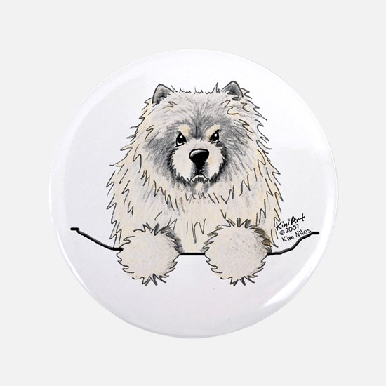 "Cream Pocket Chow Chow 3.5"" Button"